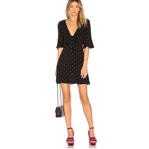 FREE PEOPLE ALL YOURS POLKA DOT MINI DRESS